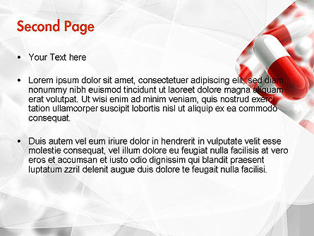 Red and White Pills PowerPoint Template, Slide 2, 11539, Medical — PoweredTemplate.com