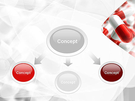 Red and White Pills PowerPoint Template, Slide 4, 11539, Medical — PoweredTemplate.com