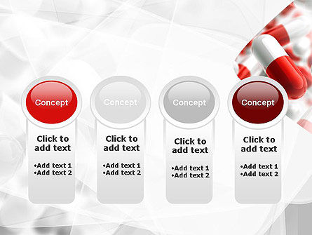 Red and White Pills PowerPoint Template Slide 5