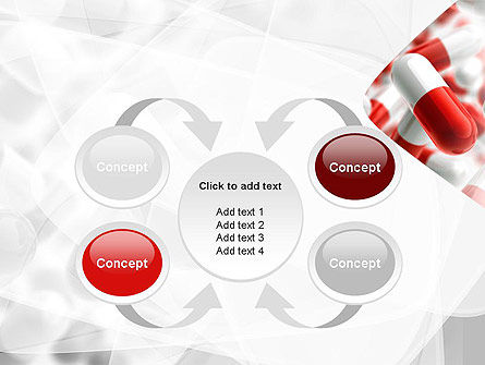 Red and White Pills PowerPoint Template Slide 6