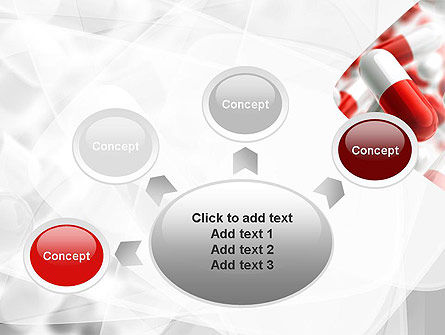 Red and White Pills PowerPoint Template Slide 7