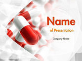 Medical: Red and White Pills PowerPoint Template #11539