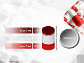 Red and White Pills PowerPoint Template#11