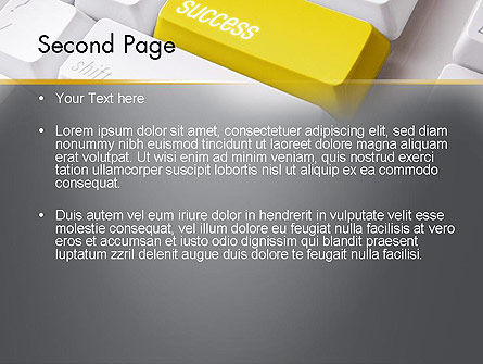 Success Computer Button PowerPoint Template, Slide 2, 11540, Business Concepts — PoweredTemplate.com