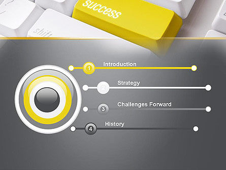 Success Computer Button PowerPoint Template, Slide 3, 11540, Business Concepts — PoweredTemplate.com