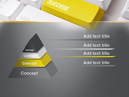 Success Computer Button PowerPoint Template, Slide 4, 11540, Business Concepts — PoweredTemplate.com