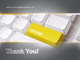 Success Computer Button PowerPoint Template#20