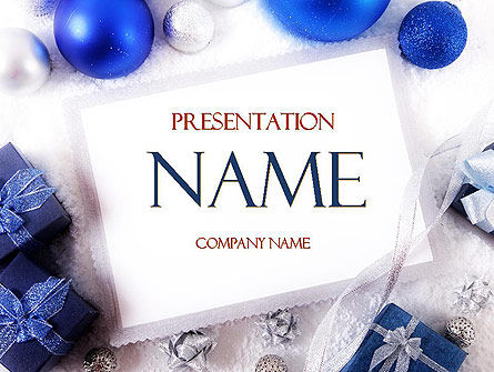 Holiday/Special Occasion: Christmas Greeting Card PowerPoint Template #11542