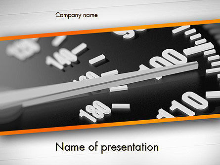 Speeding PowerPoint Template, 11544, Cars and Transportation — PoweredTemplate.com
