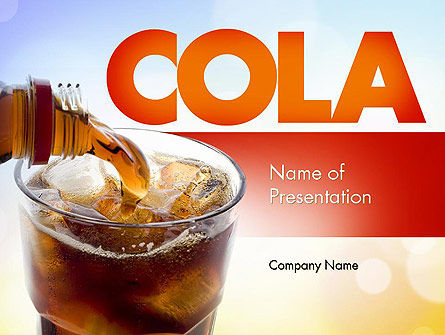 Cola Drinks PowerPoint Template, 11545, Food & Beverage — PoweredTemplate.com