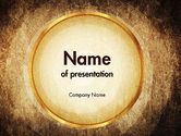 Abstract/Textures: Brown Background PowerPoint Template #11547