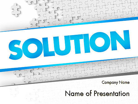 Puzzle Solution PowerPoint Template, 11548, Business Concepts — PoweredTemplate.com