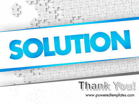 Puzzle Solution PowerPoint Template Slide 20