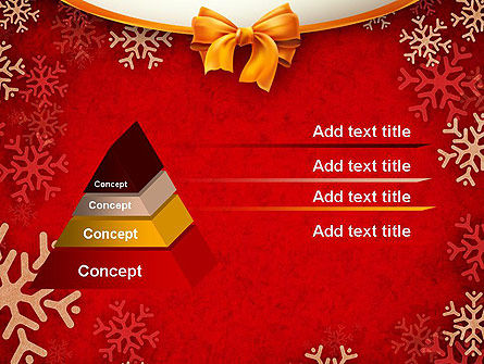 Snowflakes on Red Background PowerPoint Template Slide 12