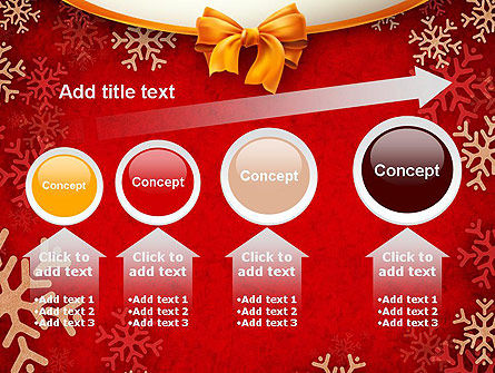 Snowflakes on Red Background PowerPoint Template Slide 13