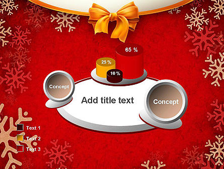 Snowflakes on Red Background PowerPoint Template Slide 16