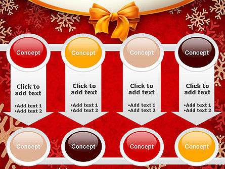 Snowflakes on Red Background PowerPoint Template Slide 18
