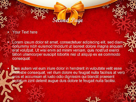 Snowflakes on Red Background PowerPoint Template, Slide 2, 11549, Holiday/Special Occasion — PoweredTemplate.com