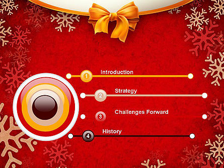 Snowflakes on Red Background PowerPoint Template Slide 3