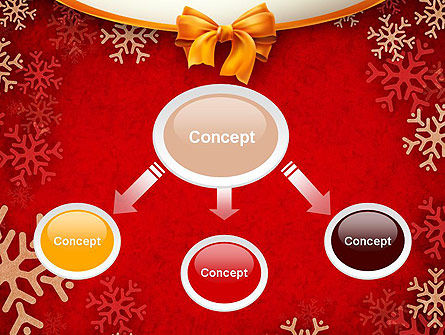Snowflakes on Red Background PowerPoint Template, Slide 4, 11549, Holiday/Special Occasion — PoweredTemplate.com
