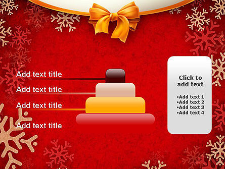 Snowflakes on Red Background PowerPoint Template Slide 8