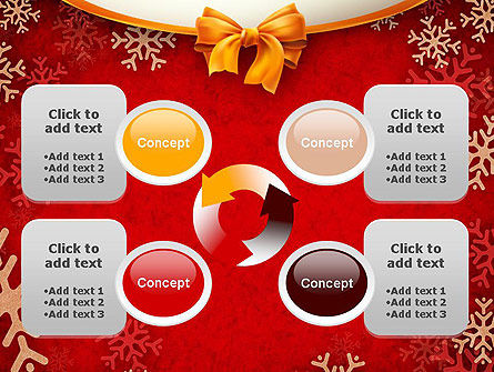 Snowflakes on Red Background PowerPoint Template Slide 9