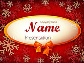 Holiday/Special Occasion: Snowflakes on Red Background PowerPoint Template #11549