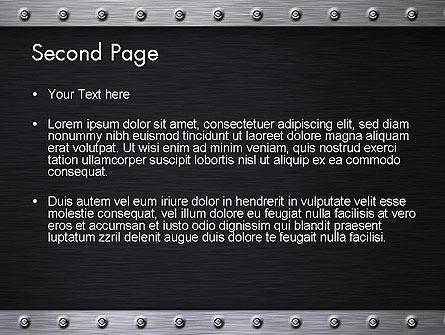 Metal Theme PowerPoint Template Slide 2