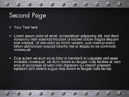 Metal Theme PowerPoint Template, Slide 2, 11550, Abstract/Textures — PoweredTemplate.com