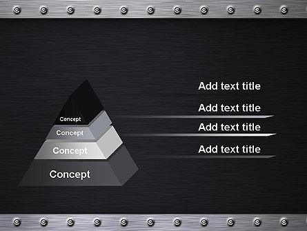 Metal Theme PowerPoint Template, Slide 4, 11550, Abstract/Textures — PoweredTemplate.com
