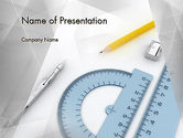 Careers/Industry: Drafting Tools PowerPoint Template #11551