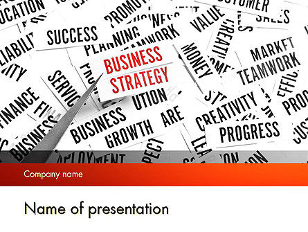 Education & Training: Plantilla de PowerPoint - concepto de estrategia empresarial #11552