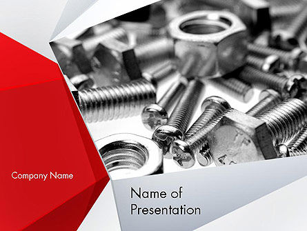 Utilities/Industrial: Nuts and Bolts PowerPoint Template #11553