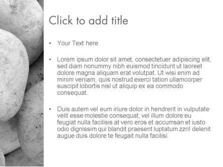 Large White Stones PowerPoint Template, Slide 3, 11554, Business — PoweredTemplate.com