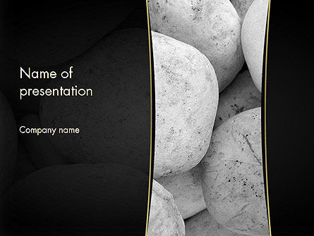 Large White Stones PowerPoint Template