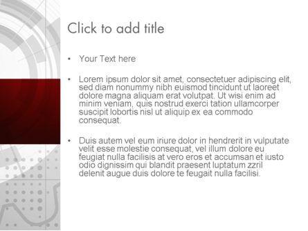 Abstract Gray Hi-Tech PowerPoint Template, Slide 3, 11557, Abstract/Textures — PoweredTemplate.com