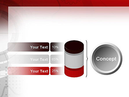 Abstract Gray Hi-Tech PowerPoint Template Slide 11