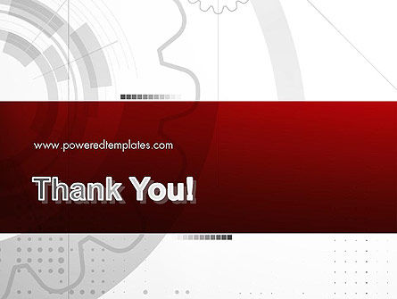 Abstract Gray Hi-Tech PowerPoint Template Slide 20
