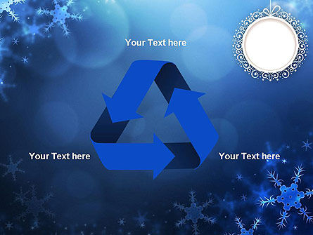 Blue Snowflakes Background PowerPoint Template Slide 10