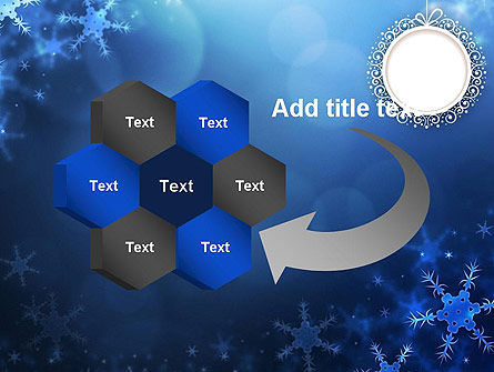 Blue Snowflakes Background PowerPoint Template Slide 11