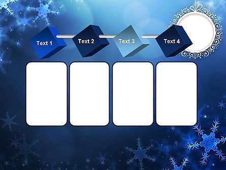 Blue Snowflakes Background PowerPoint Template Slide 18