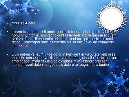 Blue Snowflakes Background PowerPoint Template Slide 2