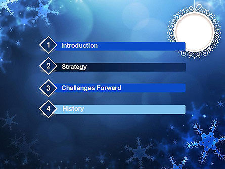 Blue Snowflakes Background PowerPoint Template Slide 3