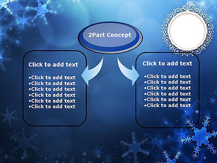 Blue Snowflakes Background PowerPoint Template Slide 4