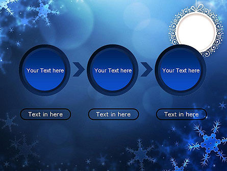 Blue Snowflakes Background PowerPoint Template Slide 5