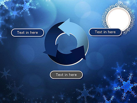 Blue Snowflakes Background PowerPoint Template Slide 9
