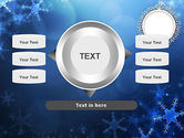 Blue Snowflakes Background PowerPoint Template#12