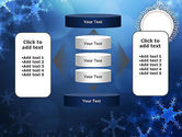 Blue Snowflakes Background PowerPoint Template#13
