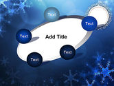 Blue Snowflakes Background PowerPoint Template#14