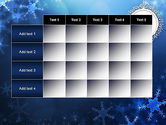 Blue Snowflakes Background PowerPoint Template#15
